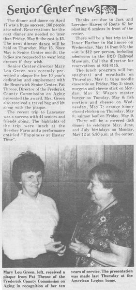 File:Senior Center 1987 News, Pat Throne from The Brunswick Citizen.jpg