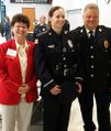 Mayor Tome, Officer Druktenis, Chief Frech at Awards Banquet May 5, 2015.jpg