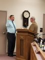 Brunswick City Council Meeting 2018, Adam Cubbage sworn in to the Economic Development Commission by Mayor Snoots, February 14, 2018.jpg
