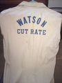 Doc Watson's bowling shirt from when the Cut Rate sponsored a bowling team.jpg