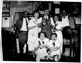 Luther B. (Lute) Darr with his team at Darr's Tavern early 1950s.jpg