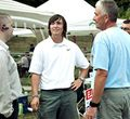 Andrew Alger 21 second from left talked to voters outside the polls on August 3, 2010 from The Gazette.jpg