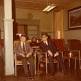 Emerson Barlow (left) and Tom Marcum (conductor) in the TV lounge on main floor at the YMCA, circa 1975.jpg