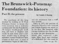 Brunswick Potomac Foundation, its history part II from The Brunswick Citizen, Vol 5, No 3, January 19, 1978.pdf