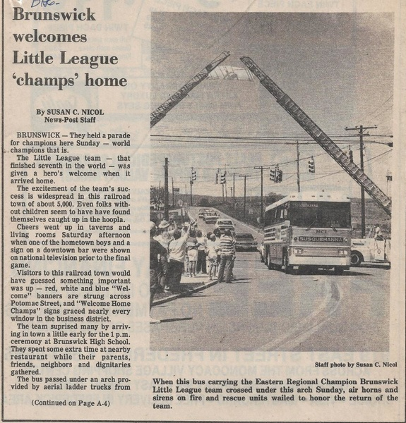 File:Little League 1986 Welcome Champs Home from The Frederick News-Post, August 25, 1986.pdf