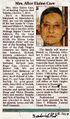 Alice Elaine Care Obituary from The Frederick News Post, October 8, 2014.jpg