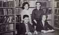 Students - In Back Connie Albert, Brenton Barger, front John Brubaker, Miriam Arnold,.jpg