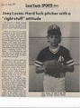 Little League 1985 Joey Lucas from The Brunswick Citizen, Vol 12, No 23, June 6, 1985.pdf