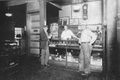 Marvin Younkins behind the counter at the B&O YMCA circa early 1930's.jpg