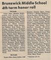 Honor Roll 1984 Fourth Term from The Brunswick Citizen, Vol 11, No 26, June 28, 1984.jpg