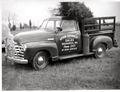 Christmas tree heading to market in a Litten's Chevrolet truck..jpg