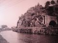 Canal - short tunnel at Point of Rocks in 1868,.jpg