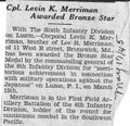 Levin K. Merriman, Cpl from The Blade-Times, May 17, 1945.jpg