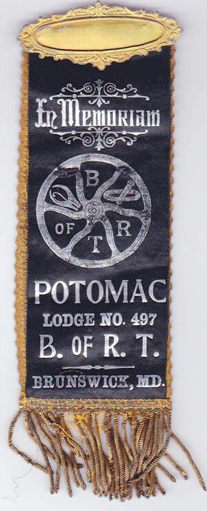 Union ribbons were issued by the various railroad trade unions and worn for various occasions.jpg