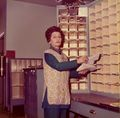 Post Office, Mary Webber is sorting the mail..jpg