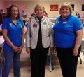 American Legion 2018, Pam Holzman (left) 1st Vice President Auxiliary Unit 96, Diane Duscheck and Andrea Anderson President Auxiliary Unit 96.jpg