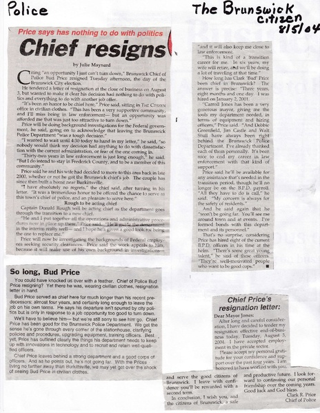 File:Chief Bud Price Resigns from The Brunswick Citizen, August 5, 2004.pdf