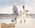 William Murphrey, Superintendent of the B&O, Baltimore Division threw out the 1st pitch 1959.jpg