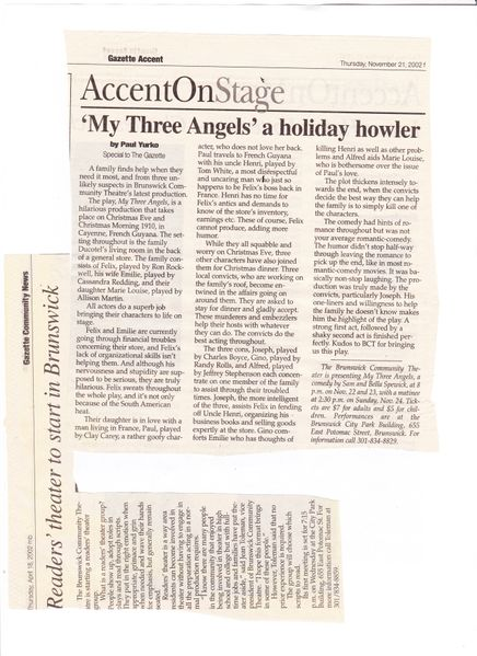File:My three Angels from The Gazette, November 21, 2001.jpg