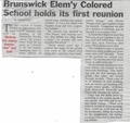Brunswick Colored School Reunion from The Brunswick Citizen, July 26, 2001.pdf