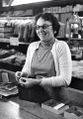 Kaplon's - Doll Wilklo from Lovettsville at the checkout counter, Early '60.jpg