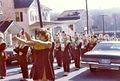 Students - band marching behind the color guard and majorettes on S. Maryland Avenue in 1977.jpg
