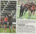 Lacrosse 2018, Brunswick Junior Railroaders, Madison Kinser, Bree Shiley from the Brunwick Citizen, Vol 45, No 19, May 10, 2018.jpg