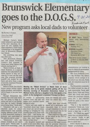 D.O.G.S. 2013 Micahel Carter from The Frederick News-Post, September 21, 2013.jpg