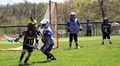 Lacrosse 2018, Xander Ripley -11 with Duke Stoner -4 in the background May 2018.jpg