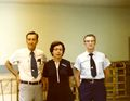 Post Office, Jerry Pearrell (Postmaster), Mary Cook and Bill Utterback..jpg