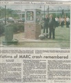 MARC Remembers Crash Victims from The Frderick Post, September 23, 1996.pdf