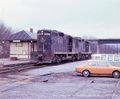 Diesel locomotive beside the old Eastbound Brunswick station in 1976.jpg