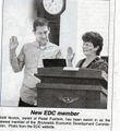 Brunswick City Council Meeting ,Economic Development Commission, Brett Novick and Mayor Karin Tome from The Brunswick Citizen.jpg