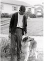 Phil Childs and Lassie he was chairman of the Brunswick Planning Commission.jpg