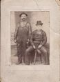 Ben Sigafoose and Elonza Gosnell Brunswick BO workmen. Photo taken probably before 1920 from Bob Day.jpg