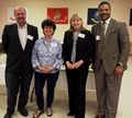 City Administrator Bob McGrory, Mayor Karin Tome, Frederick Cty Executive Jan Gardner and Roger Wilson , Director Government Affairs Public Policy Frederick.jpg