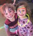 Alyssa Semenick and Megan Dick enjoying the pajama jam staged by Scout Troop 81757 Fm Brunswick Citizen Aug 25 2016.jpg