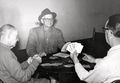 Piper Mills, Harry Allgire and Earl Cage playing cards at the B&O Y..jpg