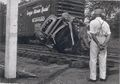 Seaboard Railroad car (Orange Blossom Special Route) and vehicle collide at crossing, Photo 2.jpg