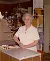 Pearl Taylor behind the counter at Moler's Prescription Pharmacy in the mid-1970s.jpg